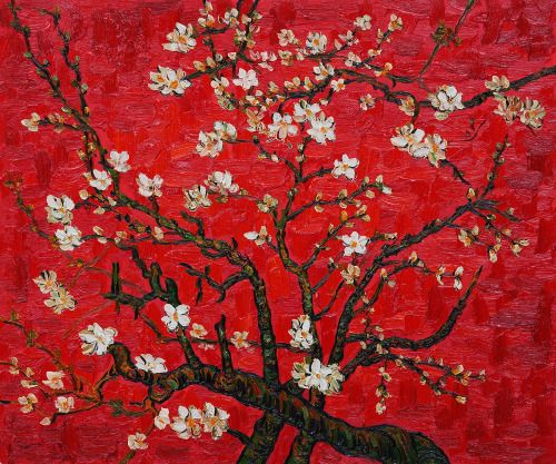 "catmota: "" Branches of an Almond Tree in Blossom, Interpretation in Red (1890) Vincent van Gogh """