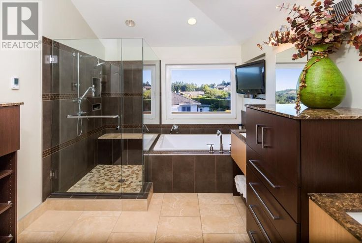 Master Bathroom WOW! Listed at Snap Up Real Estate in Saanich, BC near Victoria.