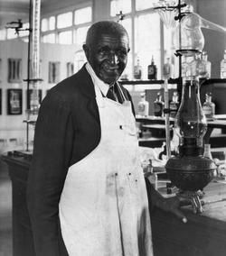 George Washington Carver, botanist,  invented five hundred or so uses for the peanut, lectured  at the Tuskegee Institute, and was an outstanding artist.
