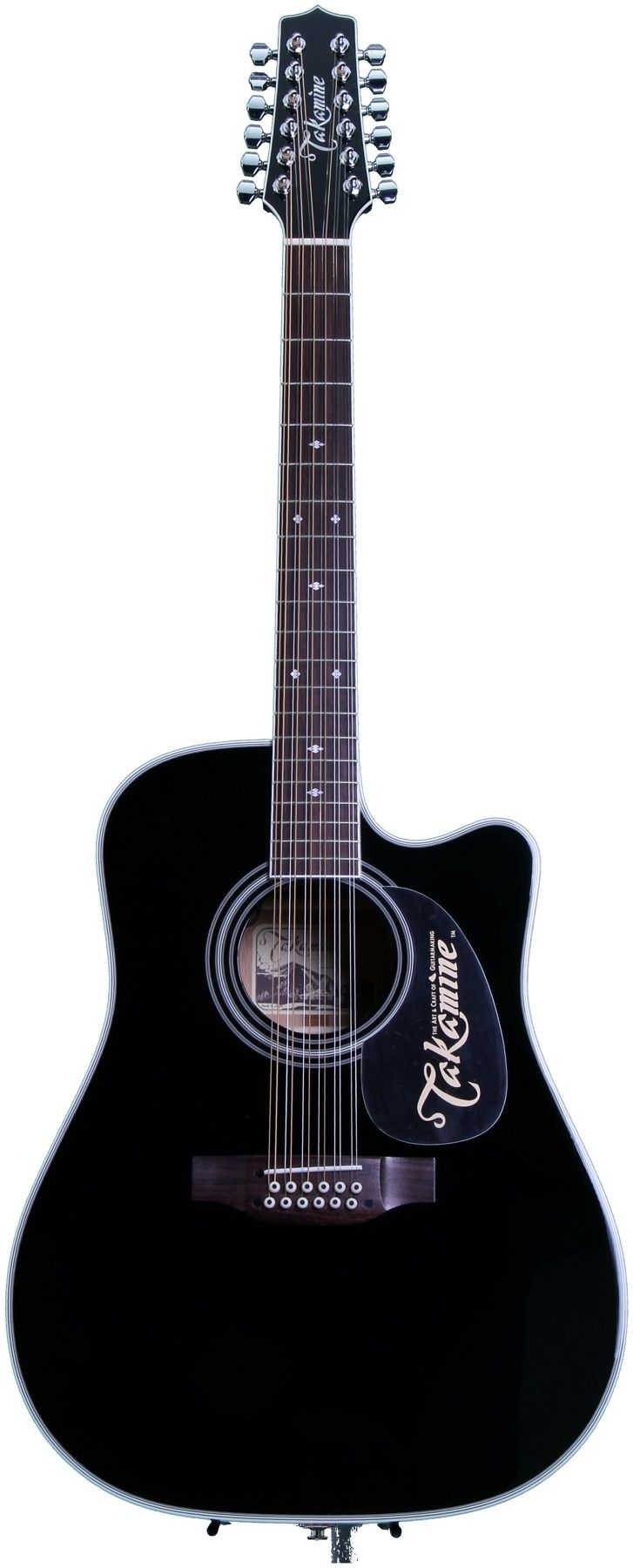 Despite my love for the allure of all things black, I've never been into plain gloss black guitars... Until now. I'm quite taken with the Takamine EF381SC.
