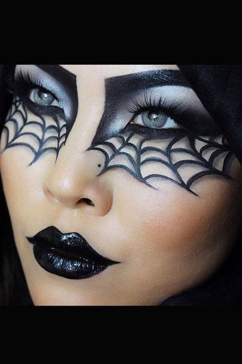 die besten 25 kost m make up ideen auf pinterest halloween gesichts make up halloween makeup. Black Bedroom Furniture Sets. Home Design Ideas