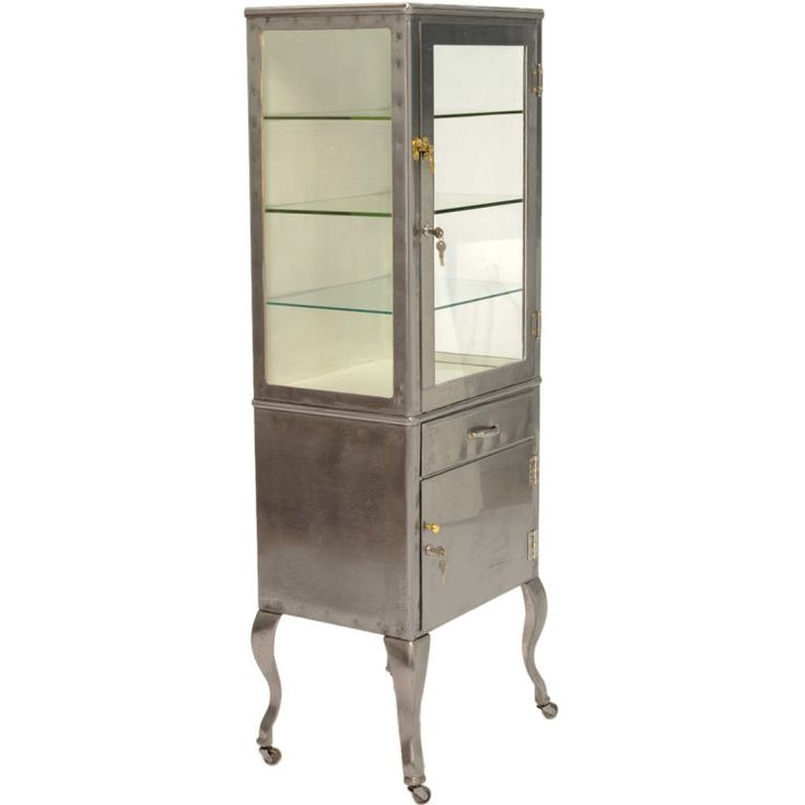 1stdibs - Vintage Medical Cabinet/Vitrine on Cabriel Legs explore items  from 1,700 global dealers - 76 Best Antique Dental Cabinets Images On Pinterest Dental