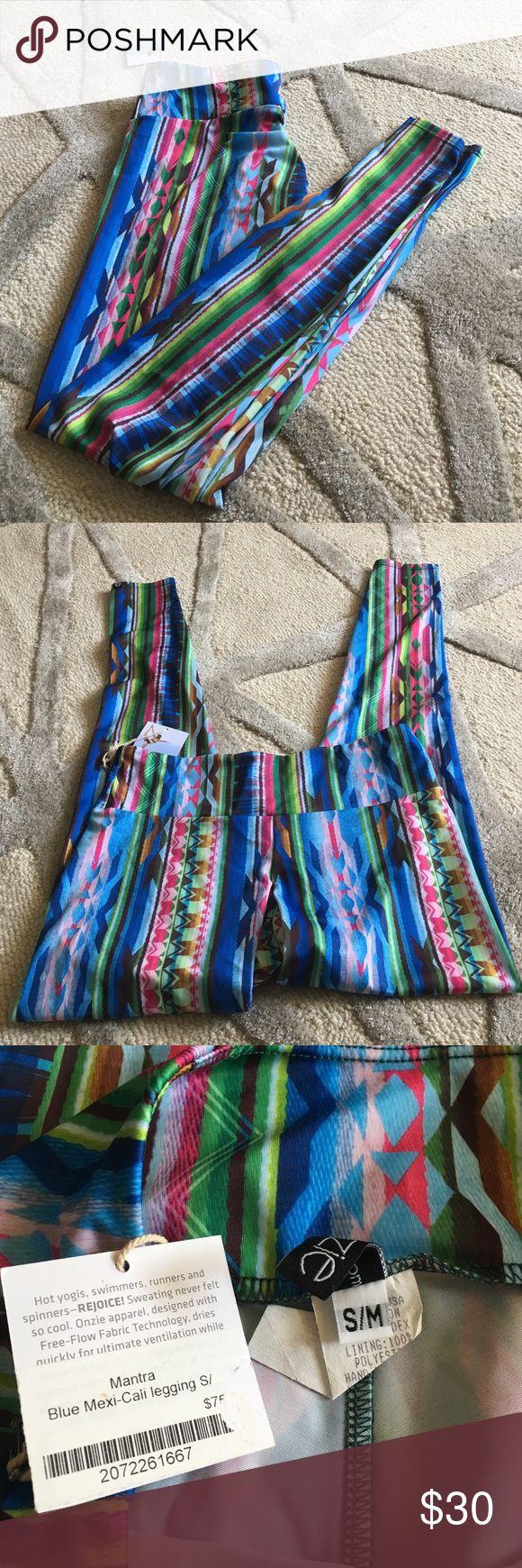 NWT Onzie Tribal Print Yoga Leggings. S/M NWT Onzie Tribal Print Yoga Leggings. S/M. Blue Mexi -Cali legging S/. Tribal print legging. Great for festival season or for a hot yoga class or a coffee date. Onzie Pants Leggings