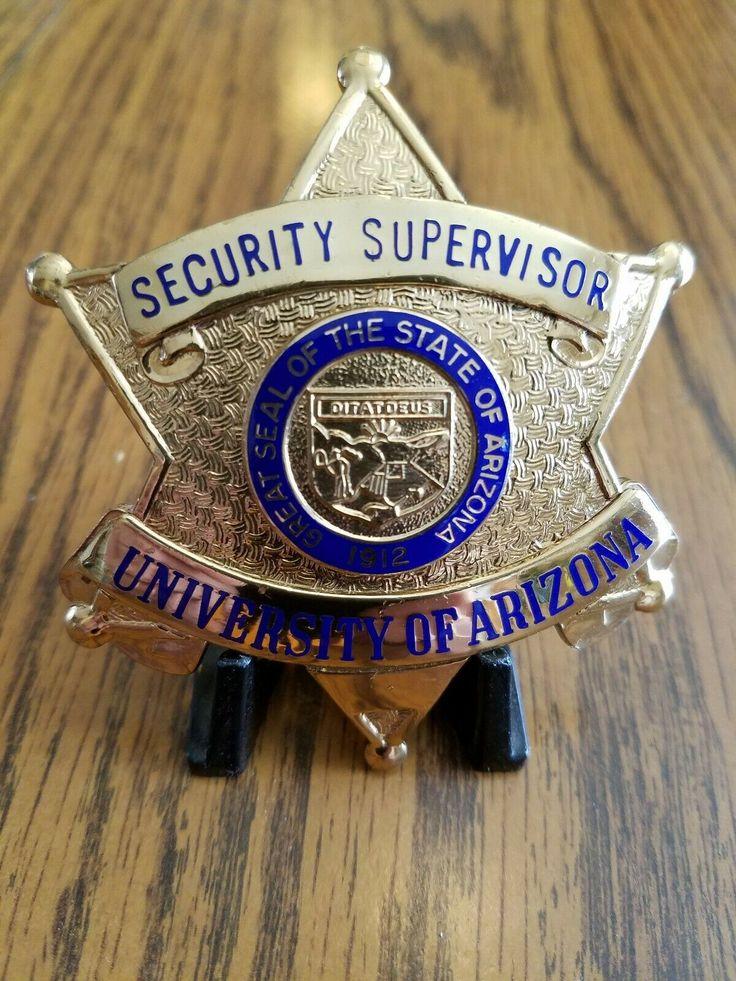 Security Supervisor, University of Arizona (Entennman