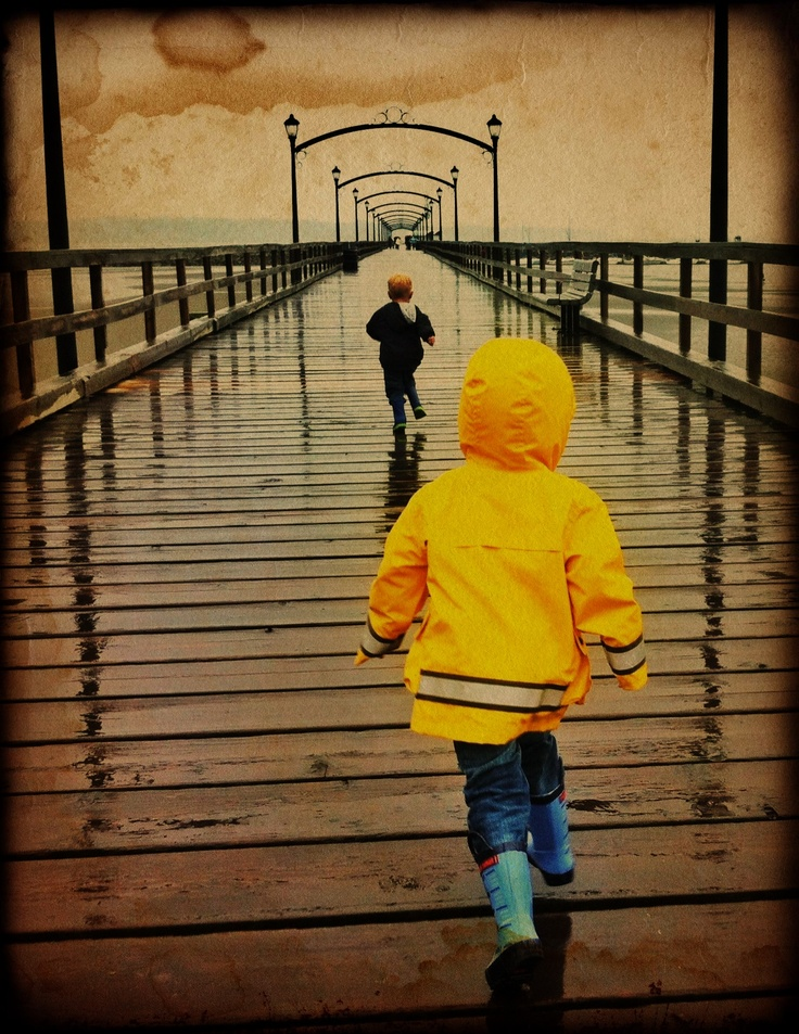 White Rock Pier in the rain, iPhone.  iPhoneography