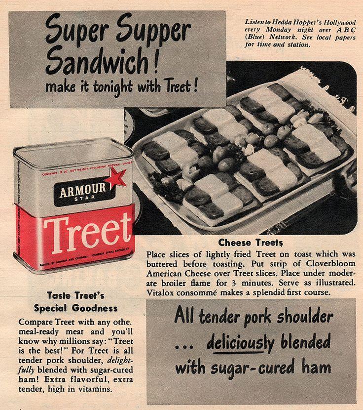 Treet Canned Meat Vintage Recipes Treet