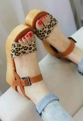 Leopard Print Platform Shoes