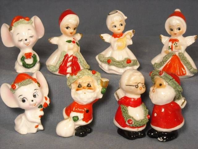 Details about vtg napco miniature christmas figurines