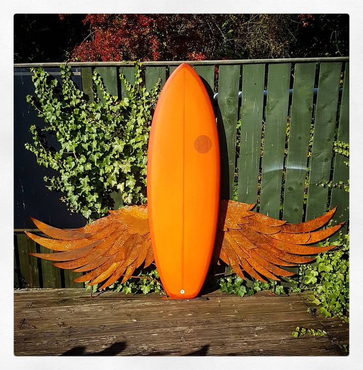 Visionary Surfboards... give you wings! New shape for @driftsaltburn Thanks to Dave @daveodonnell_design for unknowingly allowing me to use his awesome wings for the photo. #visionary #custommade #surfboard #surfboards #shortboard #resintint #givesyouwings http://ift.tt/19MEsb6