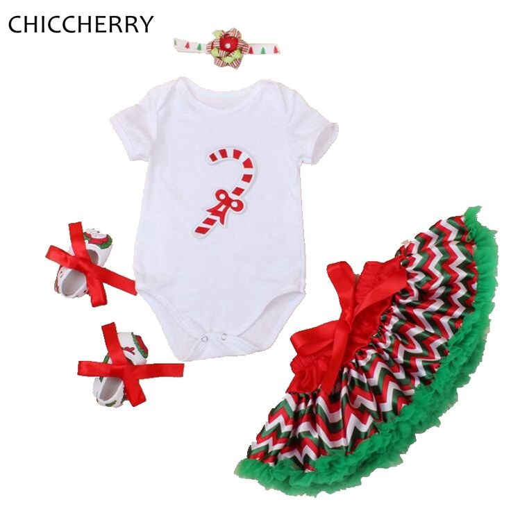 >> Click to Buy << Santa Claus Walking Stick Christmas Costume Baby Bodysuit Lace Tutu Skirt Headband Crib Shoes Toddler Girl Christmas Outfits #Affiliate