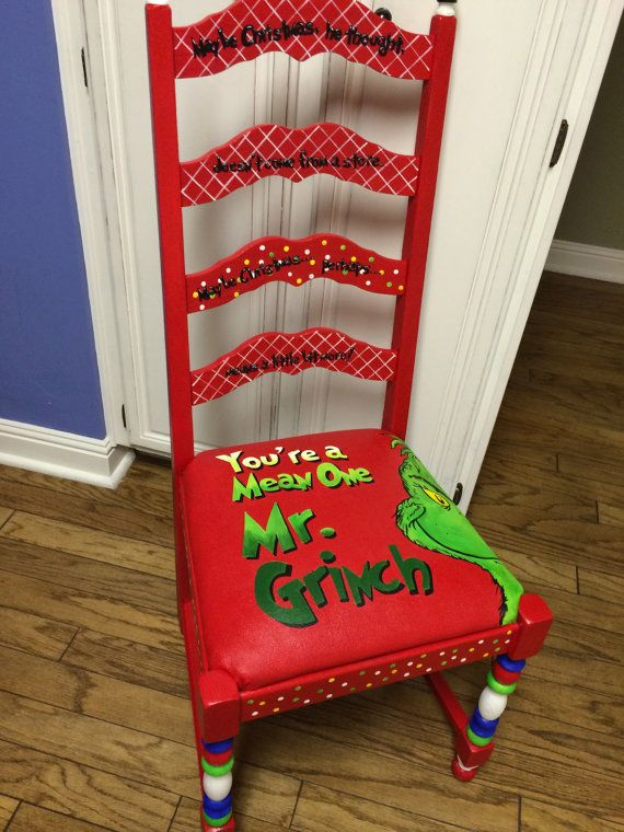 The Grinch Christmas naughty or nice hand by artbelongseverywhere