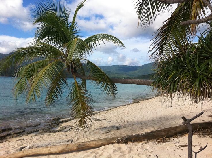 Little 1 km long Mystery Island in Vanuatu