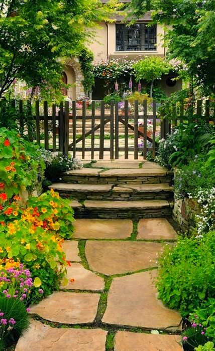 Garden gate and pathway