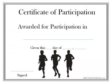 10 best running certificates images on pinterest for Running certificates templates free