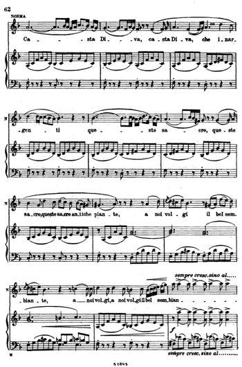 """Каватина Нормы Casta Diva - знаменитая оперная ария из произведения Винченцо Беллини """"Норма"""" по праву причислена к красивейшим ариям оперного искусства, а также одна из самых сложных арий"""