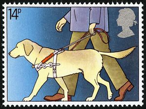 British Guide Dog stamp from 1981.