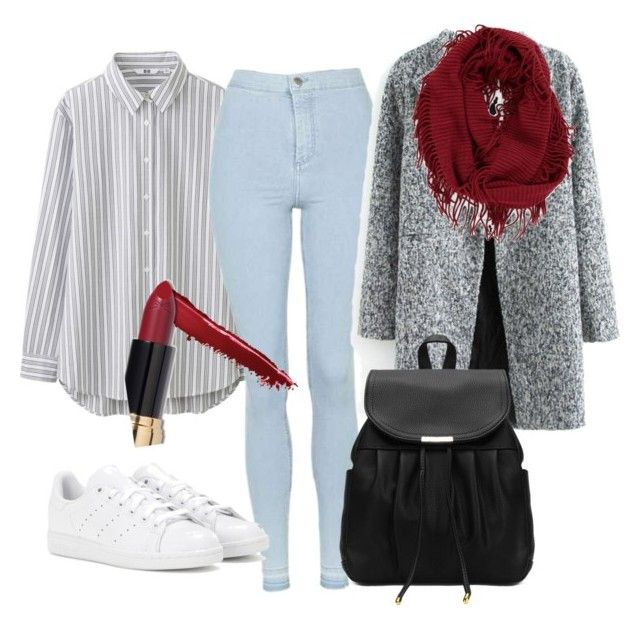 """""""Noora Sætre inspired outfit"""" by mademoisellelottchen on Polyvore featuring Uniqlo, Topshop, Ciaté, adidas and BP."""