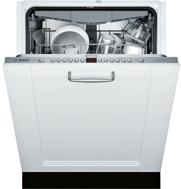 Bosch SGV68U53UC Fully Integrated Dishwasher with Sanitize, Quick Wash, AquaStop, Cutlery Rack, Adjustable Upper Rack, 6 Wash Cycles, 5 Wash Options, Water Softener, Flexible Silverware Basket, 44 dBA, ADA Compliant and ENERGY STAR Compliant