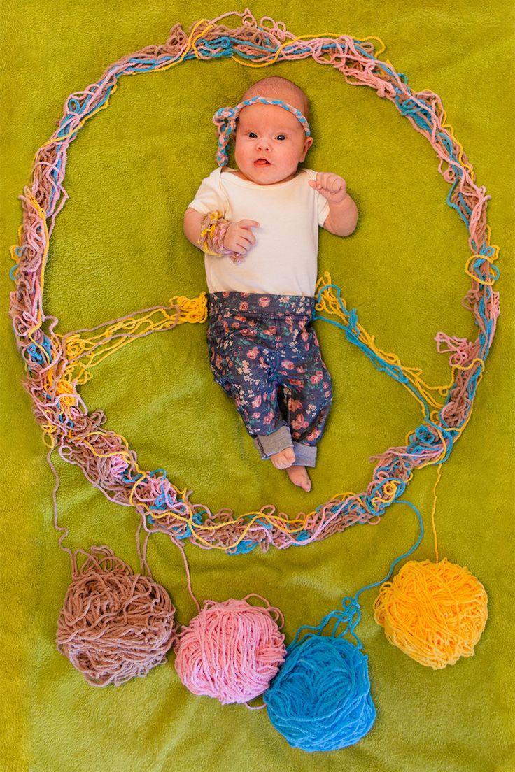 ребенок, дочка, картины из вещей, декорации, детская фотосессия, стилизация, младенец, девочка, хиппи, пацифик , творчество, креативная мама
