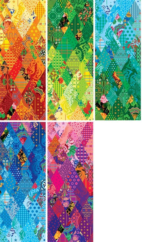 """2014 Olympic Games - Russia - The look revolves around """"the principle of the 'patchwork quilt' — a combination of 16 designs representing the most famous traditional Russian arts and crafts, ranging from Gzhel to Khokhloma"""