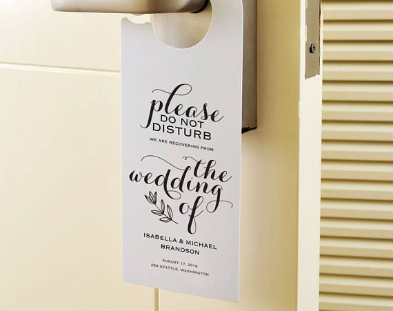 De 27 beste bildene om Wedding Door Hanger på Pinterest - wedding door hanger template