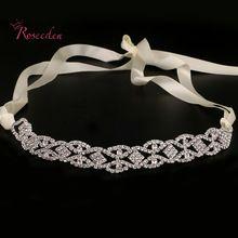 Moda festa de Casamento romântico cristal rhinestone hairband headband do casamento de noiva acessórios para o cabelo de noiva de alta qualidade RE683 alishoppbrasil