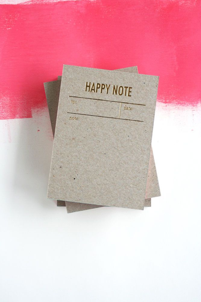 Happy notes - gold foiled notepads