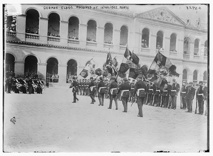 German Flags Received at Invalides, Paris