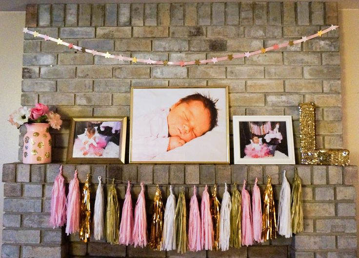 Pink and Gold First Birthday Party Decor