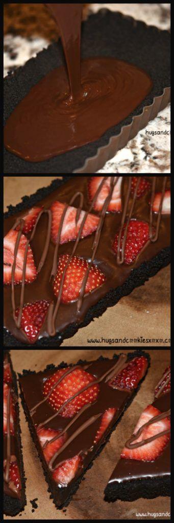 No-Bake Strawberry Ganache Tart