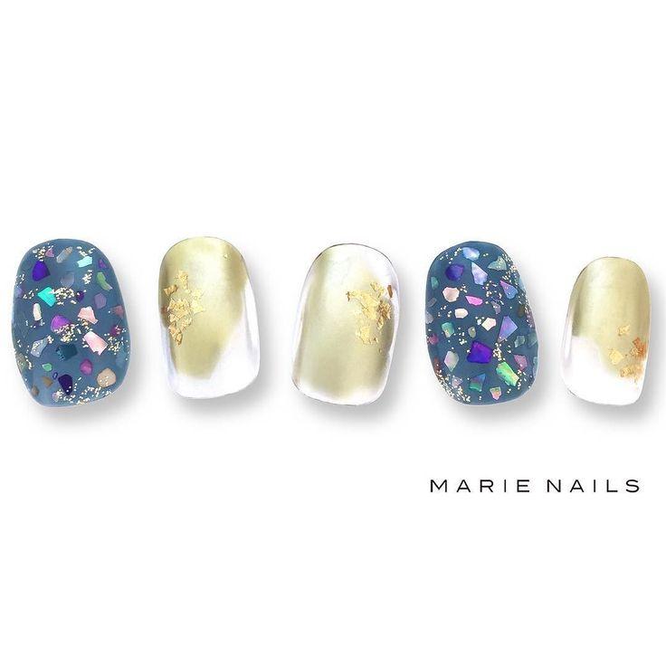 #マリーネイルズ #ネイル #cool #nailaddict #ジェルネイル #ネイルアート #gelnails #swag #marienails #表参道 #tokyo #ネイルデザイン #nail #toocute #pretty #instanails #nails #love #naildesign #blue #happy #ファッション #beauty #nailart #ネイリスト #fashion #ootd #frenchnails #gold #nailartist