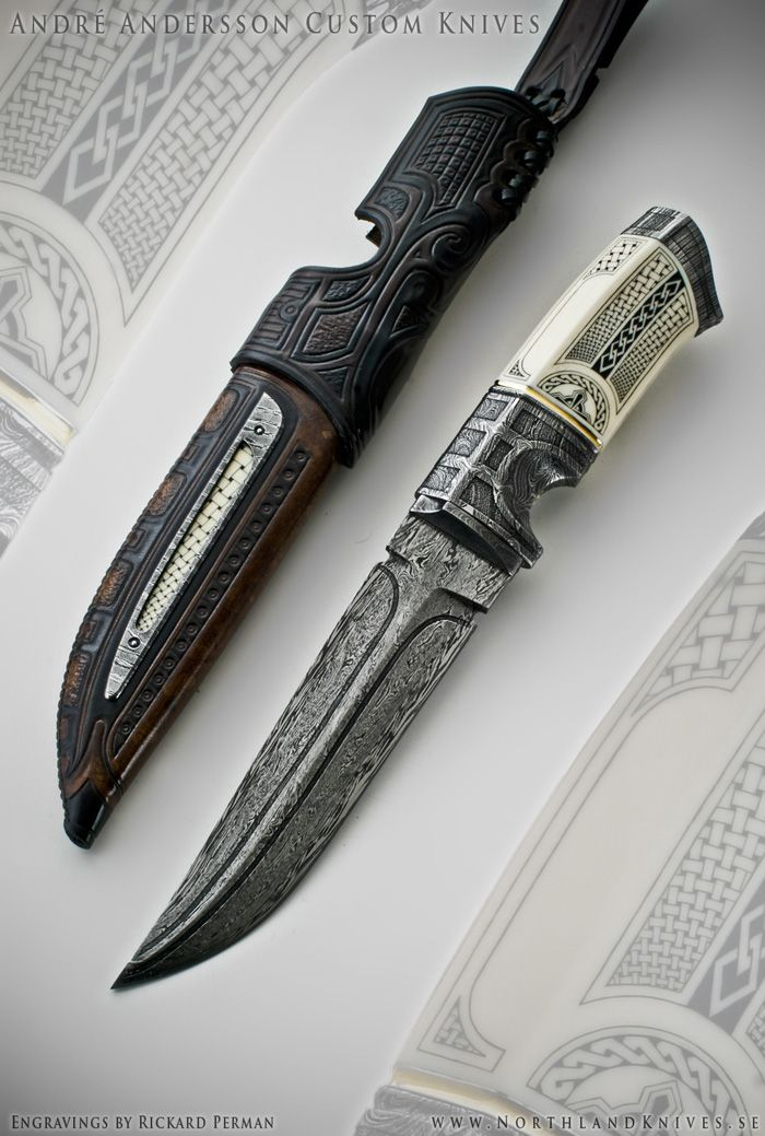 André Andersson Custom Damascus Knives - Knives, Daggers ...