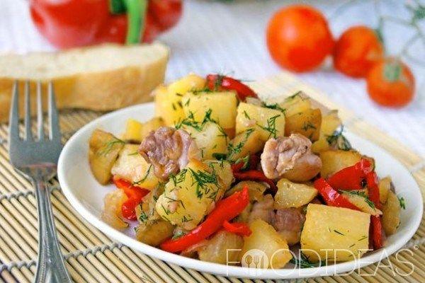 Овощное рагу с курицей | Застолье-онлайн