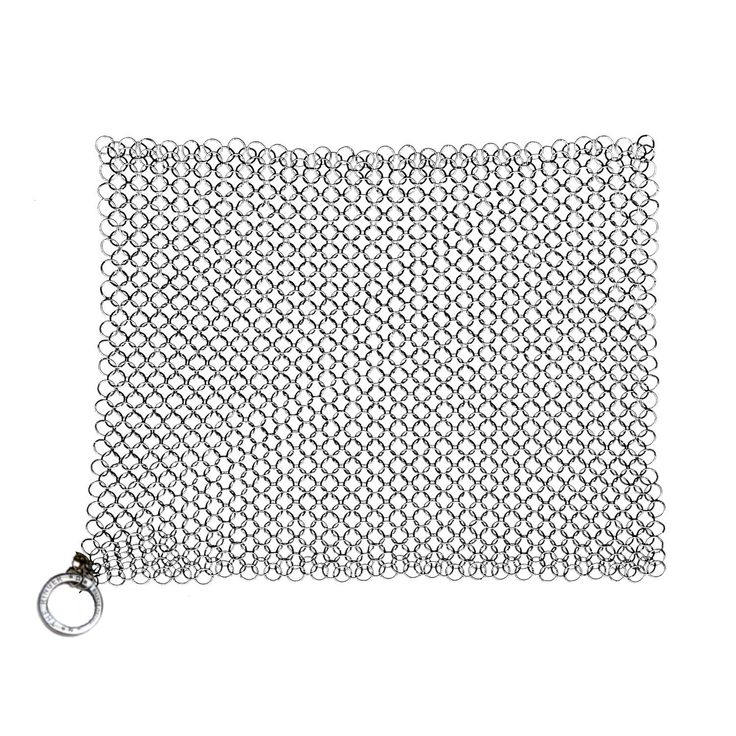 Francoise -- Amazon.com: The Ringer Cast Iron Cleaner XL 8x6 Inch Stainless Steel Chainmail