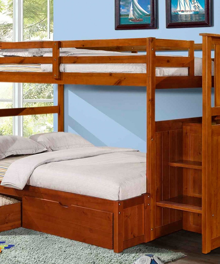 45 best images about my dream room on pinterest for Bunk bed with double on bottom
