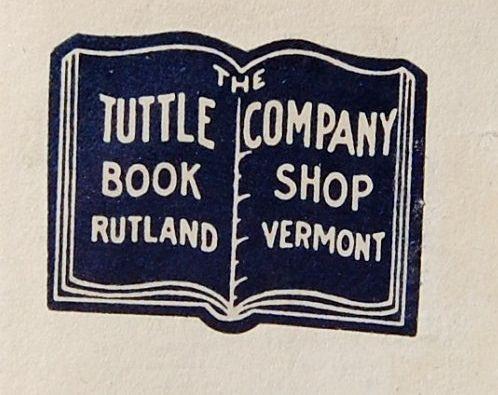 Book trade label Tuttle Company Book Shop Rutland Vermont, via Flickr.