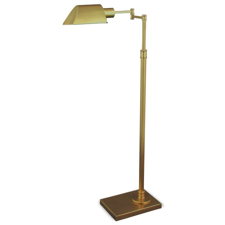 Mr. Lamp and Shade #QF-6947 36 to 46-inch Antique Brass Floor Lamp