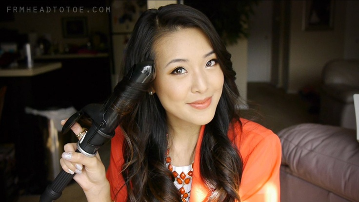 From Head To Toe: Easy Loose Curls Tutorial...Good for stubbornly straight Asian hair!