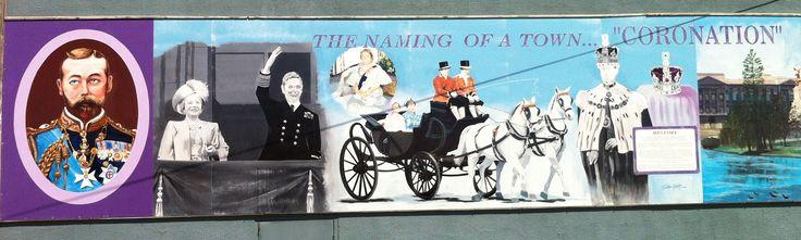 """Left Side of 8 ft. x 52 ft. """"Royal Mural"""" Coronation, Alberta"""