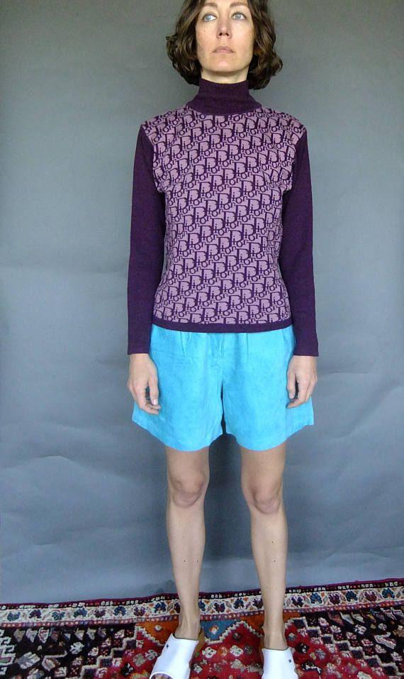 Christian Dior sweater vintage designer sweater purple