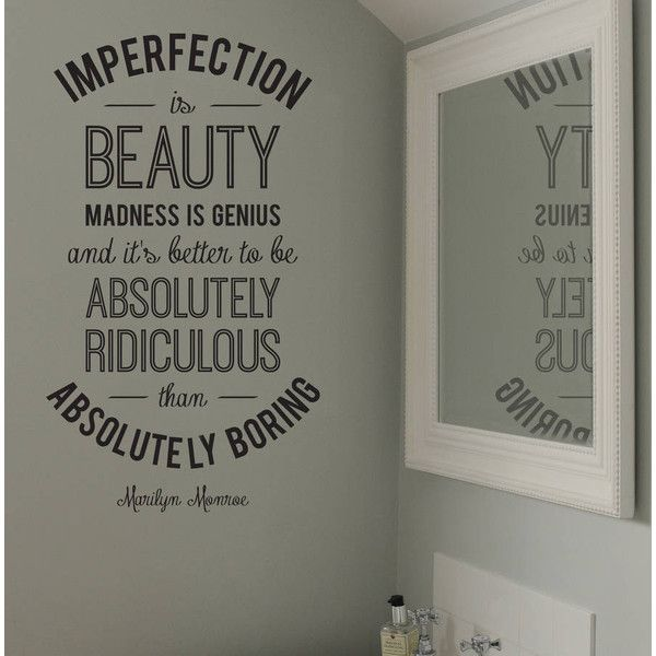 Leonora Hammond Imperfection Marilyn Monroe Quote Wall Sticker 34 Liked On