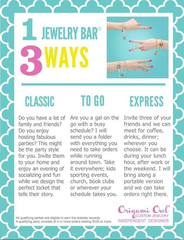 Which #OrigamiOwl Jewelry Bar would be the best fit for you? Follow CINDY CAZARES on FB! https://www.facebook.com/hellociindycharms