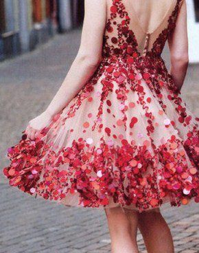 red sequin dress!