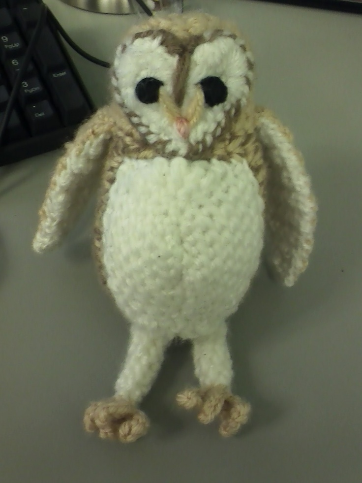 Amigurumi Barn Owl : Crochet Barn Owl Crochet and Knitting Pinterest