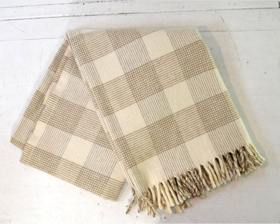 Vintage Fairbo Wool Lap Blanket by Fairbault by AnytimeVintage, $42.00