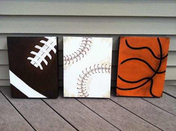 Deporte de vivero decoración deporte por WhoopsyDaisyArt en Etsy