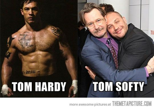 Tom Hardy; Tom Softy HAHA I love his silly smile he has