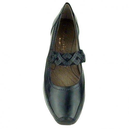 Tamaris bőr női cipő 1-22117-24 001 fekete -