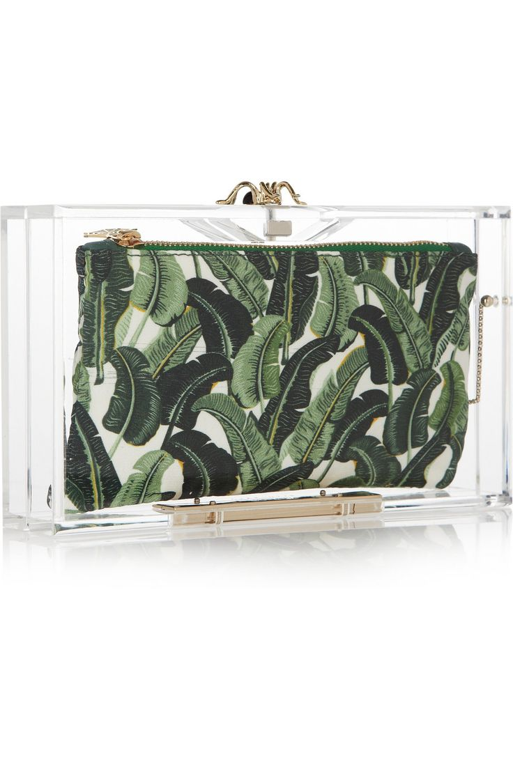 Charlotte Olympia: Bananas Leaf, Perspex Boxes, Leaf Prints, Charlotte Olympia, Pandora Perspex, Boxes Clutches, Olympia Pandora, Beverly Hill, Olympia Clutches