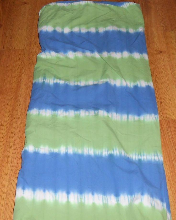 Pottery Barn Kids Tie Dye Twin Duvet Cover Blue Green Coastal Bedding #PotteryBarn